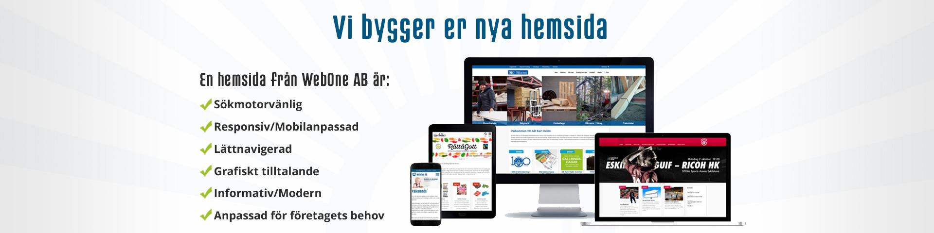 Behöver ni en hemsida?